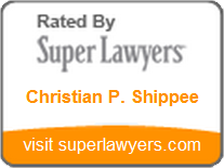Christian Shippee, Super Lawyers Rising Stars 2012-2016, profile page.